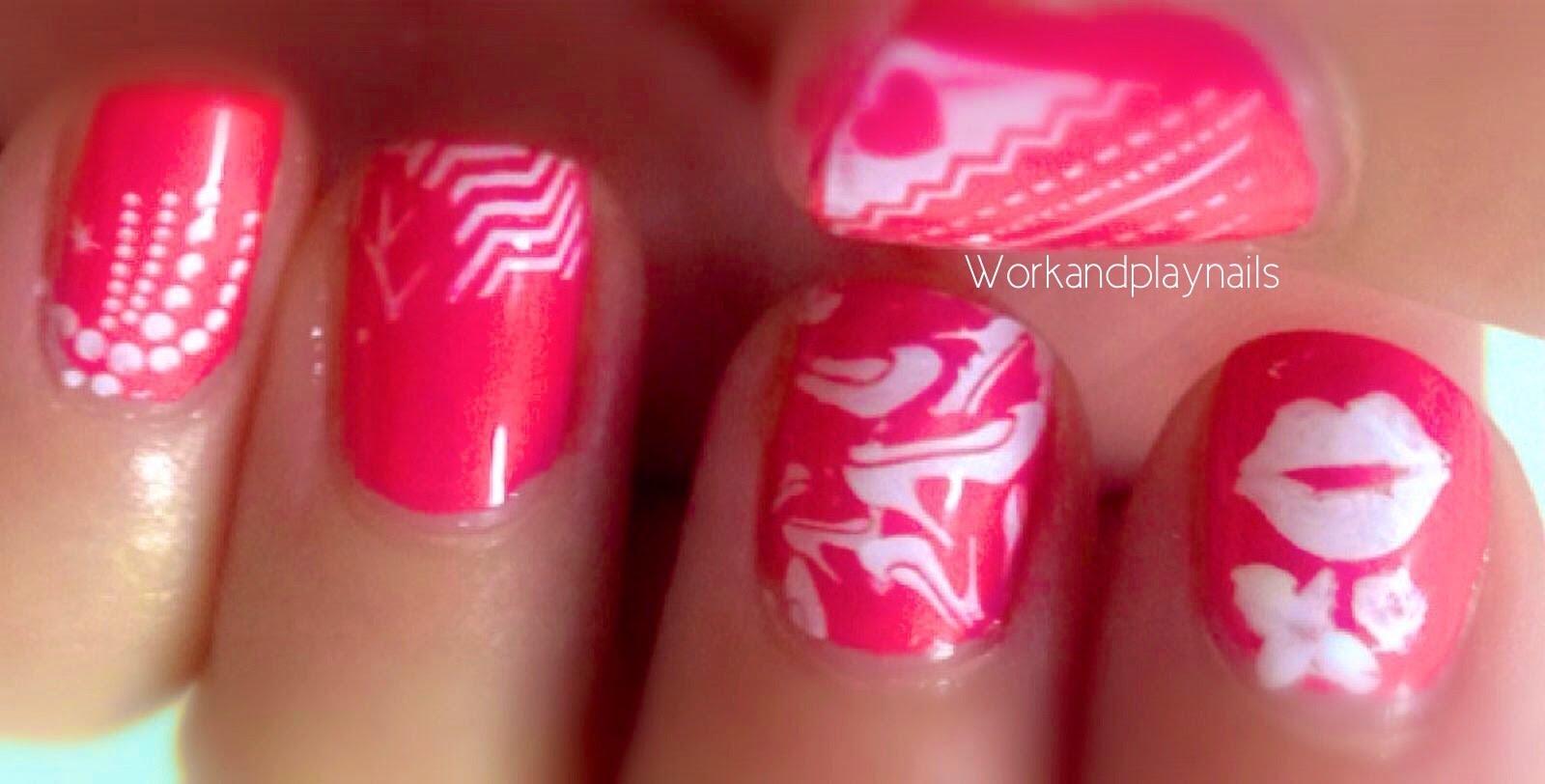 Gossip Girl Nail Art Xoxo Work And Play Nails