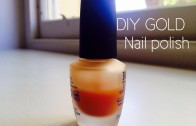 Making gold nail polish at home