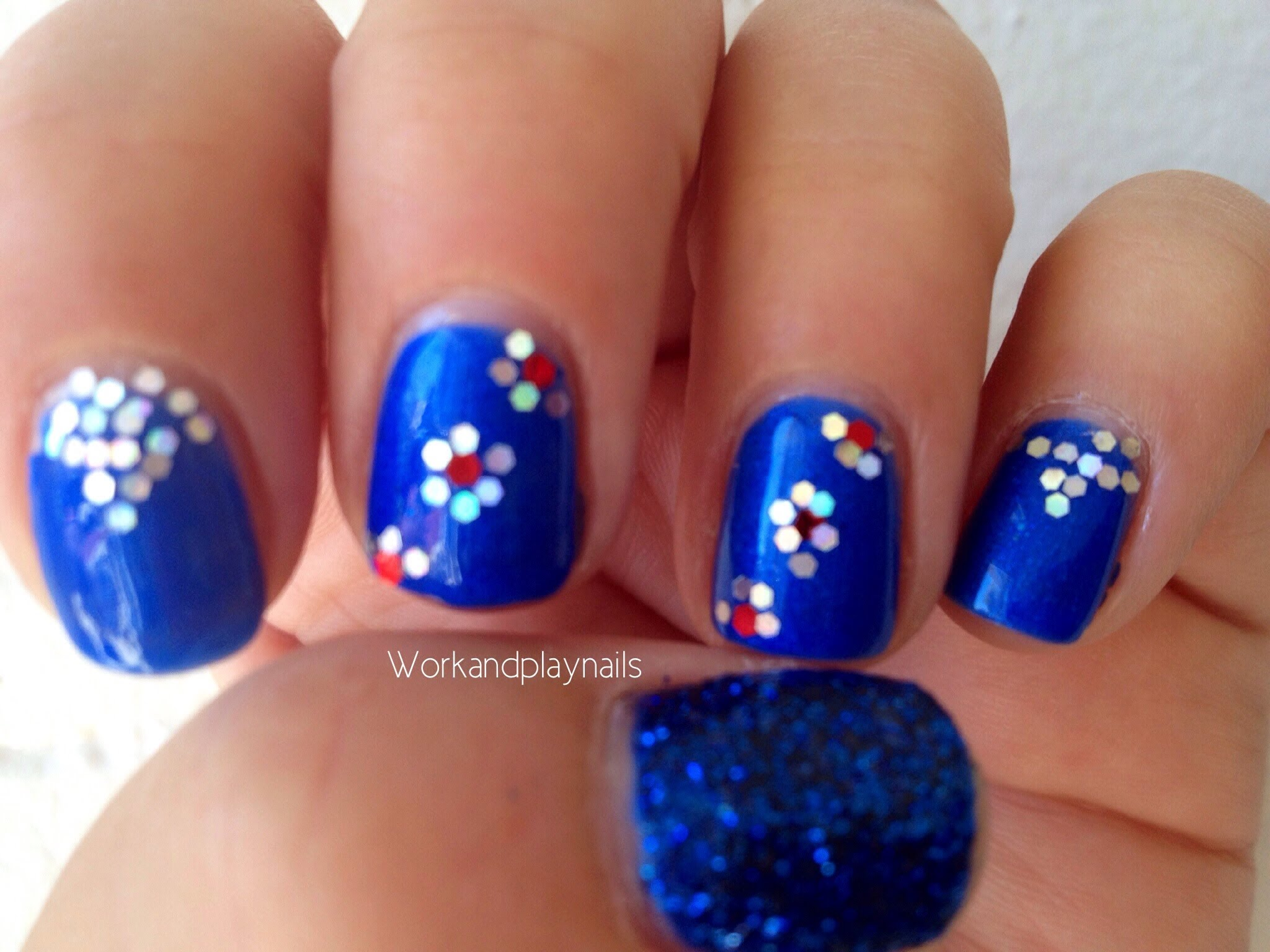 Hexagon Glitter Feature Nail Born Pretty Store Work And Play Nails