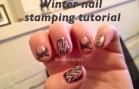 Winter nail stamping