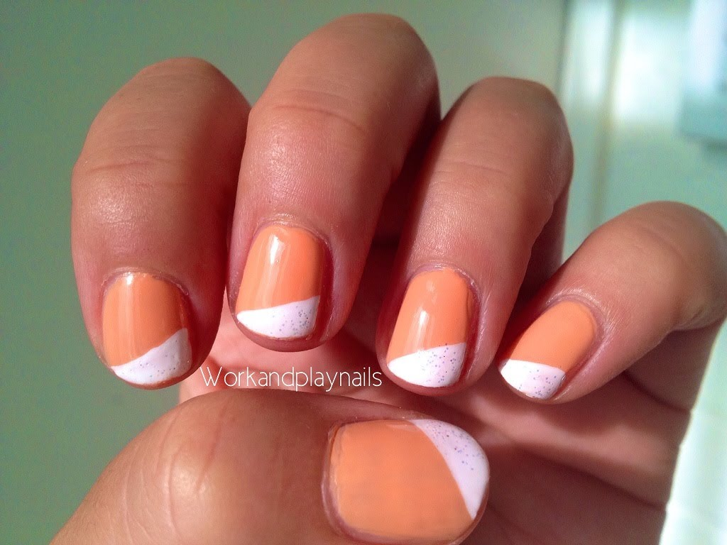 Work Nail Tutorial - Diagonal French Tip - Work And Play Nails