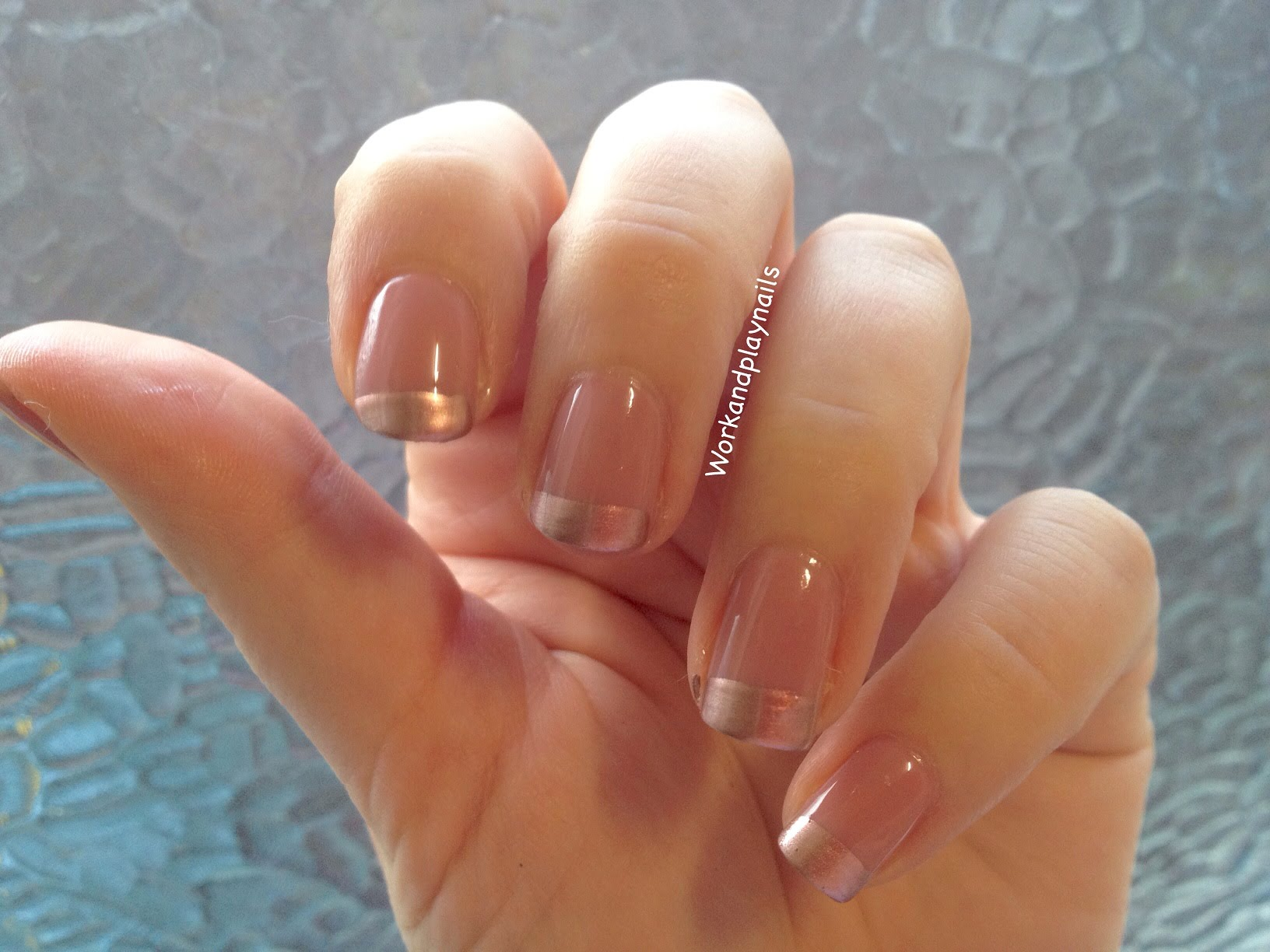 Essie Gold French Tip Nail Tutorial - Work And Play Nails