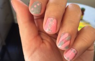 Peppermint Twist Nail Tutorial (just like sally hansen nail stickers)
