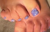 Pretty in pink nail art tutorial