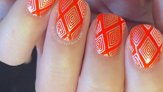 Diamond Grid Intricate Stamping Tutorial