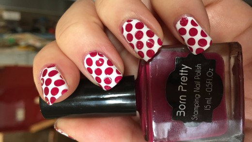 Red Dots Stamping Tutorial – Born Pretty Store stamping polish and image plate