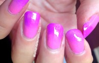 Gradient Nail Art + Super cheap & healthy clean up method.