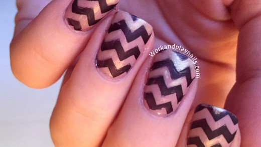 Chevron Stamping Tutorial, with a bit of sparkle