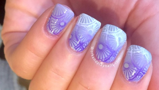 Lilac Gradient Stamping Tutorial