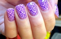 Purple Bow Stamping Tutorial – Born Pretty Store special polish and image plate